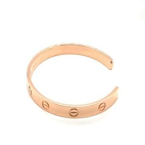 Cartier Jewelry - Cartier 18k Rose gold bracelet cuff